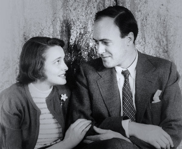 Patricia Neal with Roald Dahl