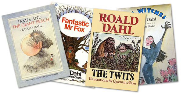 Some first edition covers of books by Roald Dahl