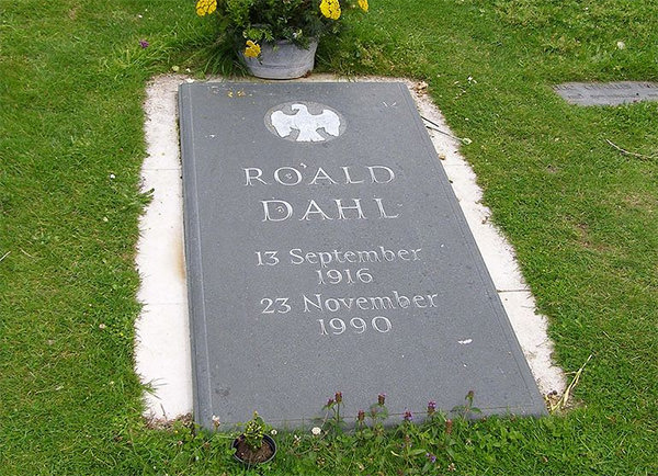 Roald Dahl gravestone at the Church of St Peter and Paul, Great Missenden, Buckinghamshire, England